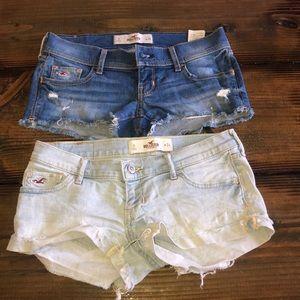 2 pair hollister shorts